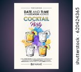 cocktail party flyer.... | Shutterstock .eps vector #620424365