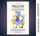 cocktail party flyer.... | Shutterstock .eps vector #620424479