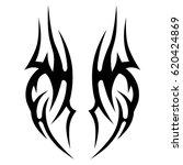 tattoo tribal vector designs.... | Shutterstock .eps vector #620424869