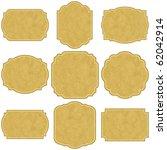 vintage labels | Shutterstock .eps vector #62042914