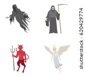mythical creatures vector icons | Shutterstock .eps vector #620429774