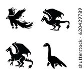 mythical creatures vector icons | Shutterstock .eps vector #620429789
