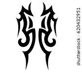 tattoo sketch tribal vector... | Shutterstock .eps vector #620432951