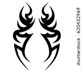 tribal tattoo art designs.... | Shutterstock .eps vector #620432969
