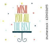 widh you all the best   Shutterstock .eps vector #620433695