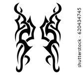 tattoo sketch tribal vector... | Shutterstock .eps vector #620434745