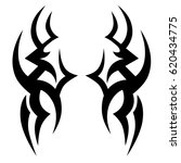 tribal tattoo art designs.... | Shutterstock .eps vector #620434775