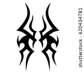 tattoo sketch tribal vector... | Shutterstock .eps vector #620434781