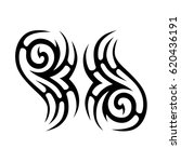 tribal tattoo art designs.... | Shutterstock .eps vector #620436191