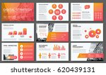 big modern set of infographics. ... | Shutterstock .eps vector #620439131
