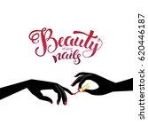 beautiful manicure ... | Shutterstock .eps vector #620446187