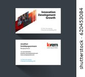 vector business card template... | Shutterstock .eps vector #620453084