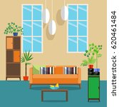vector interior design. flat... | Shutterstock .eps vector #620461484