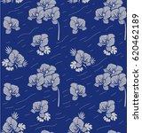 seamless floral pattern.... | Shutterstock .eps vector #620462189