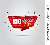 big sale banner template design ... | Shutterstock .eps vector #620472374