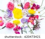 edible flowers   food flowers   ...   Shutterstock . vector #620473421