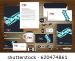 vector abstract stationery... | Shutterstock .eps vector #620474861
