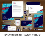 vector abstract stationery... | Shutterstock .eps vector #620474879