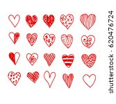 hand drawn heart | Shutterstock .eps vector #620476724