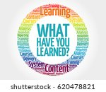 what have you learned  circle... | Shutterstock . vector #620478821