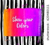 vector beautiful handmade... | Shutterstock .eps vector #620480111
