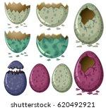 different patterns of dinosaur... | Shutterstock .eps vector #620492921