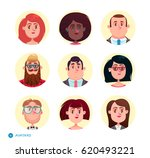 people avatars collection.set... | Shutterstock .eps vector #620493221
