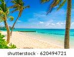 beautiful tropical maldives... | Shutterstock . vector #620494721
