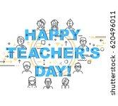 teachers day holidays card... | Shutterstock .eps vector #620496011
