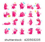 vector collection of flat funny ... | Shutterstock .eps vector #620503235
