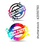 modern color exclusive stamp | Shutterstock .eps vector #62050783
