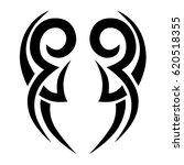 tattoo sketch tribal vector... | Shutterstock .eps vector #620518355