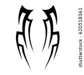 tribal tattoo art designs.... | Shutterstock .eps vector #620518361