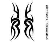 tattoo sketch tribal vector... | Shutterstock .eps vector #620518385