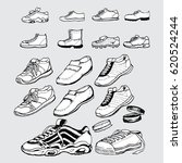 include sneakers hand drawn | Shutterstock .eps vector #620524244