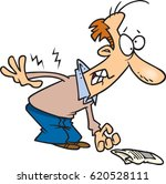 cartoon man with back pain | Shutterstock .eps vector #620528111
