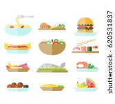 different food set. good for... | Shutterstock .eps vector #620531837