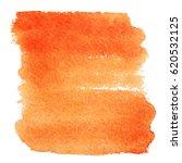 orange watercolor splash.... | Shutterstock .eps vector #620532125