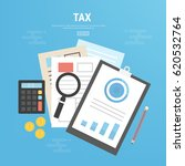 tax calculation  budget... | Shutterstock .eps vector #620532764