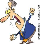 cartoon man berating in anger | Shutterstock .eps vector #620538725