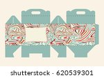 gift box pattern. template. box ... | Shutterstock .eps vector #620539301