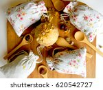 tea and herbs in bags. the view ...   Shutterstock . vector #620542727