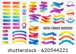 set of colorful banners and... | Shutterstock .eps vector #620544221