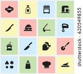 set of 16 editable meal icons.... | Shutterstock .eps vector #620549855