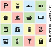 set of 16 editable meal icons.... | Shutterstock .eps vector #620553419