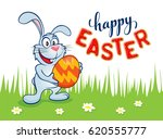 colorful happy easter greeting...   Shutterstock . vector #620555777
