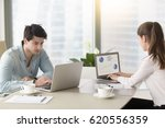 business partners or male and... | Shutterstock . vector #620556359