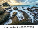 movement of water on the shores ... | Shutterstock . vector #620567759