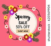 spring sale banners poster tag... | Shutterstock .eps vector #620569904
