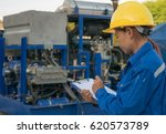 engineer woman in industry... | Shutterstock . vector #620573789